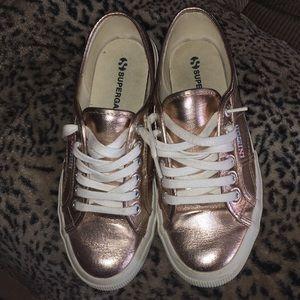 Superga Rose Gold Sneakers Sz 9